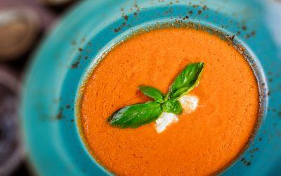 Sopa fría de pimenton&tomate